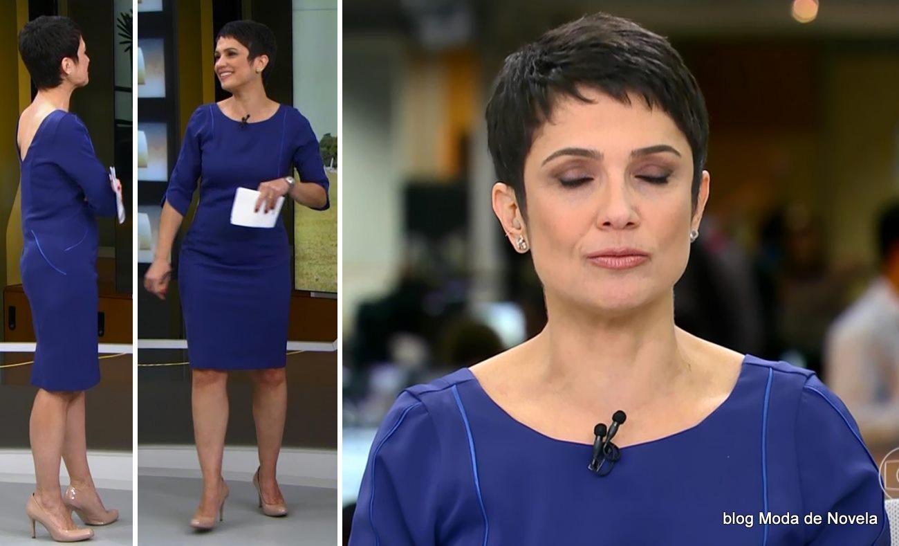 moda do programa Jornal Hoje - look da Sandra Annenberg dia 6 de junho
