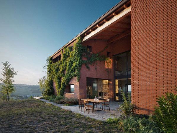 Докосната от слънцето съвременна селска къща в Италия