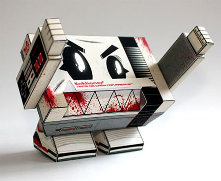 KACM NES Monster Paper Toy