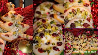Sablés glaçage blanc aux cranberries et aux pistaches