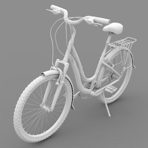 ชุดโมเดลยานพาหนะจาก Archmodels vol.55 Bicycle02