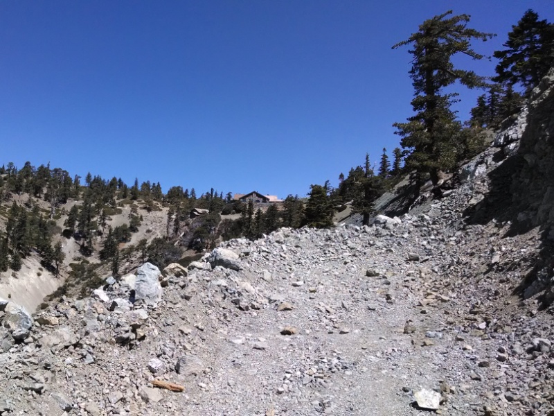 Mount Baldy Notch and Crystal Lake • Mount Baldy Dirt Road - Landslide