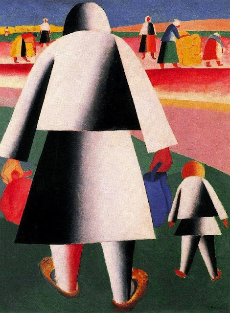 Kazimir Malevich - Going to the Harvest. Marfa and Vanka
