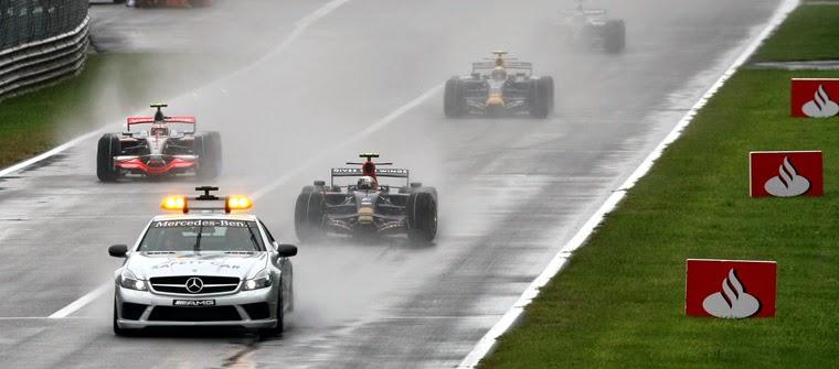 Safety car en la salida del GP de Italia 2008, Monza