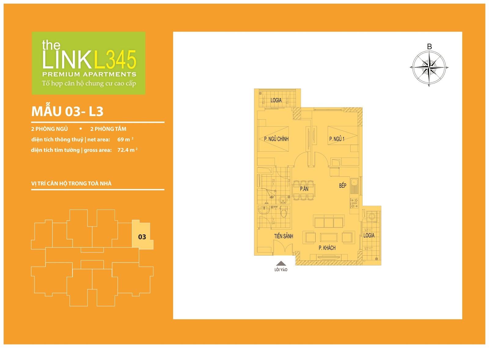Mặt bằng chi tiết căn hộ 03 - L3