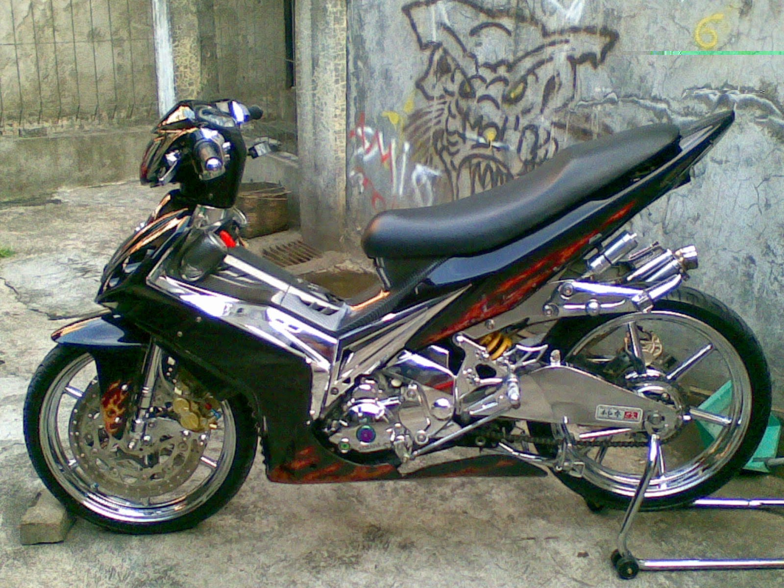 Modifikasi Jupiter Mx Racing Style