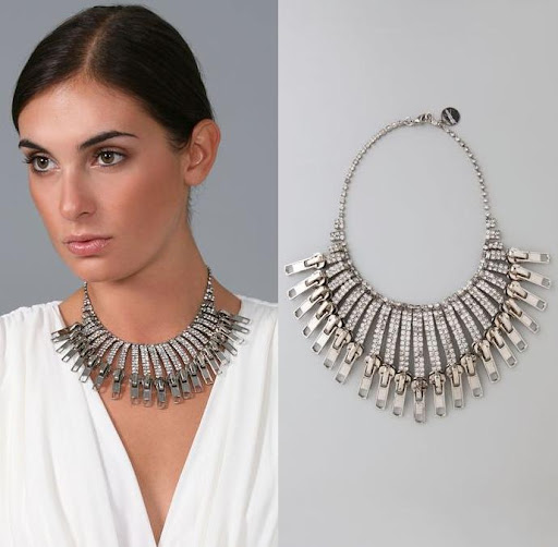 Tom Binns zipper fringe necklace. http://www.tombinnsdesign.com/