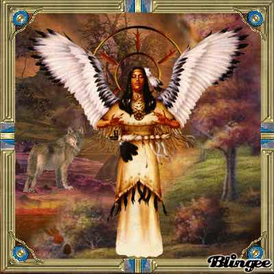 A Native American Angel by Dorin