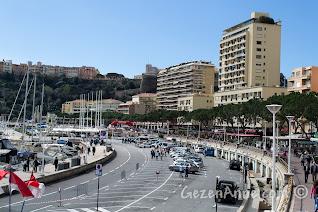 Monako'da Formula 1 startının verildiği Hercules limanı