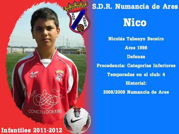 ADR Numancia de Ares. Infantís 2011-2012. NICO.