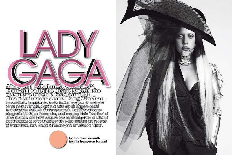 L'Uomo Vogue January 2012 : Lady Gaga