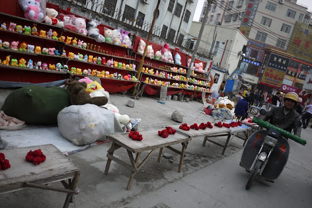 row of games to play along a street in Nanping, Zhuhai, China