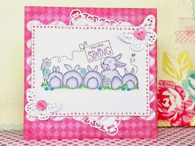 Easter srapbooking card with bunny