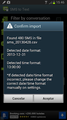 SMS import