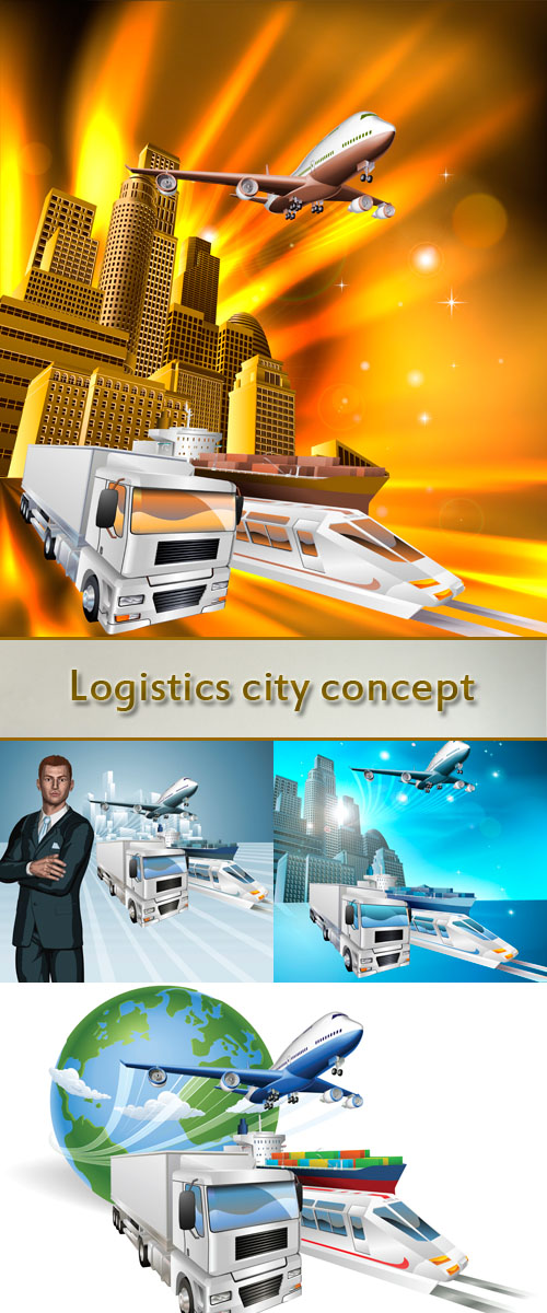 Stock: Logistics city concept