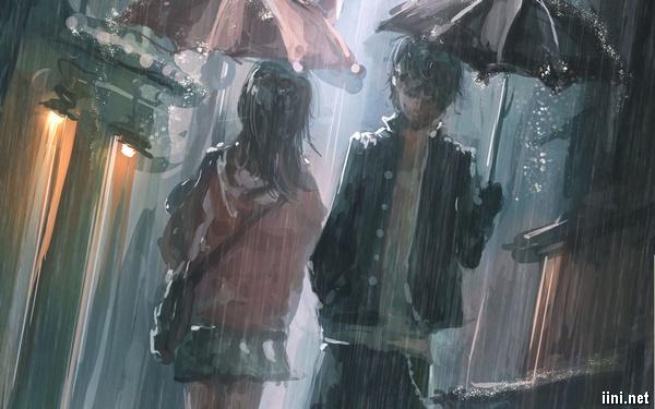 ảnh đi qua nhau trong mưa