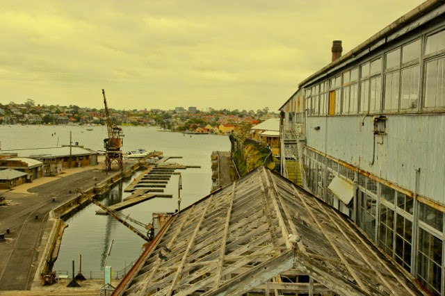 From Cockatoo Island, looking out at Sydney
