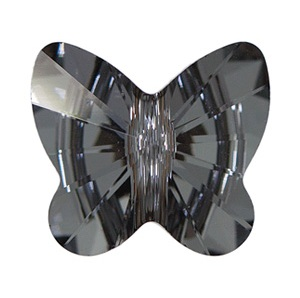 Crystal Silver Night Butterfly Bead from FusionBeads.com