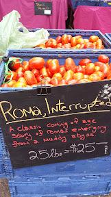 Portland Farmers Market at PSU, Roma Tomatoes Interrupted