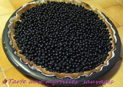 tarte aux myrtilles sauvages - recette indexée dans les desserts