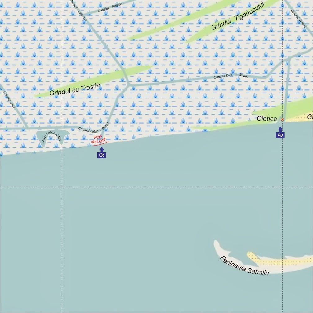 Iesiri din Delta Dunarii pe Marea Neagra - Iesirea 8 - Ciotica