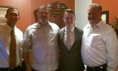 Uncle Dustin, Dad, Elder Johnson, and Papaw