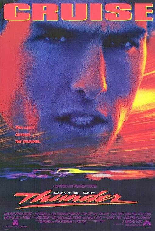 Poster Of Days of Thunder (1990) Full Movie Hindi Dubbed Free Download Watch Online At Alldownloads4u.Com