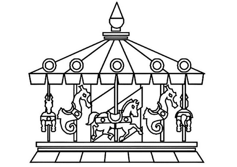 Dibujo de Carrusel para colorear