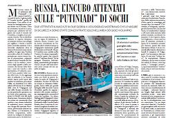 """Russia l'incubo attentati sulle """"putiniadi"""" di Sochi"""