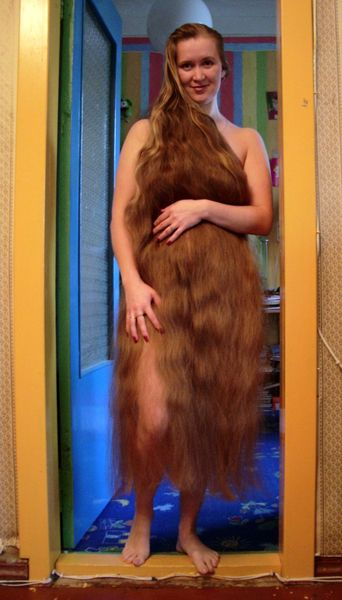 women pics floor length hair photo