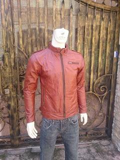 áo da moto cổ trụ