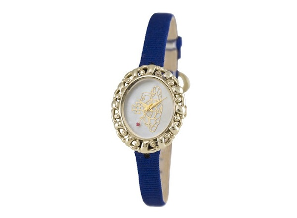 vivienne westwood watch on a blue strap