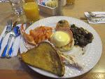 breakfast and crab legs...I love vegas