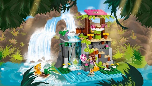Hình ảnh minh họa sinh động đẹp mắt của bộ xếp hình Lego Friends 41033 Cứu Hộ Tại Thác Nước