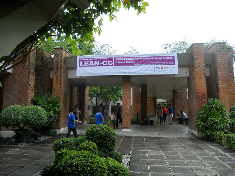 LEAN CC banner in the Science Education Complex, Ateneo de Manila University