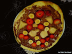 Pizza de frutas y Nutella