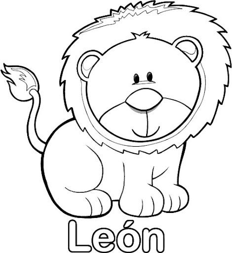Fabula el leon y el raton para colorear - Imagui