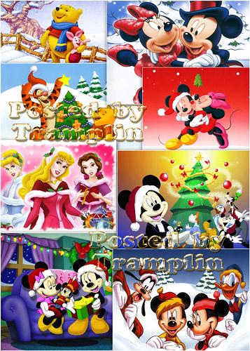 Герои Диснея встречают Новый год - Hero Disney meet New year