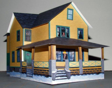 A Christmas Story House Papercraft