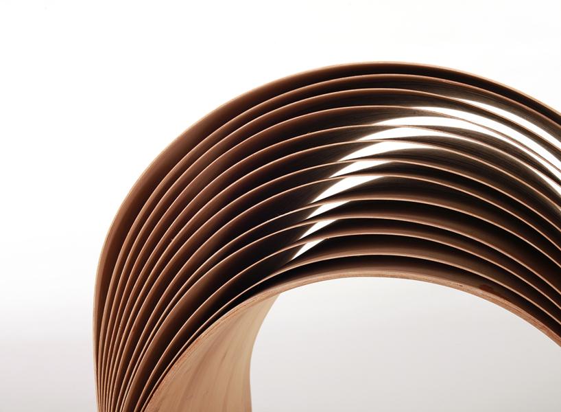 *彈性彎曲竹凳子:設計師陳旻傳統美學精湛呈現! 3