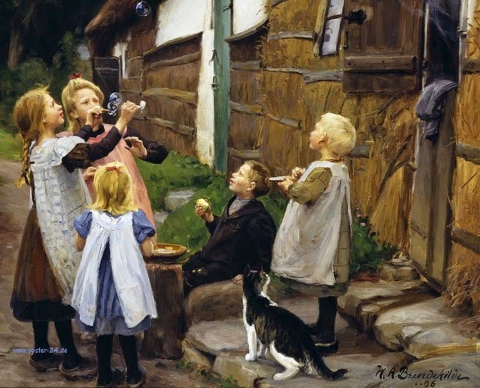 Hans Andersen Brendekilde - Soap-bubbles