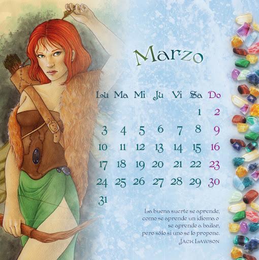 Calendario 2014 de las hadas