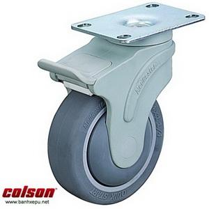 Bánh xe giường bệnh cao su có khóa chịu tải 100kg | STO-6856-448BRK4