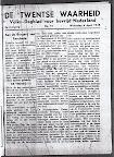 De Twentse Waarheid  - Volks-Dagblad voor Bevrijd Nederland. Woensdag 4 april 1945. Aan de Burgerij van Enschede.