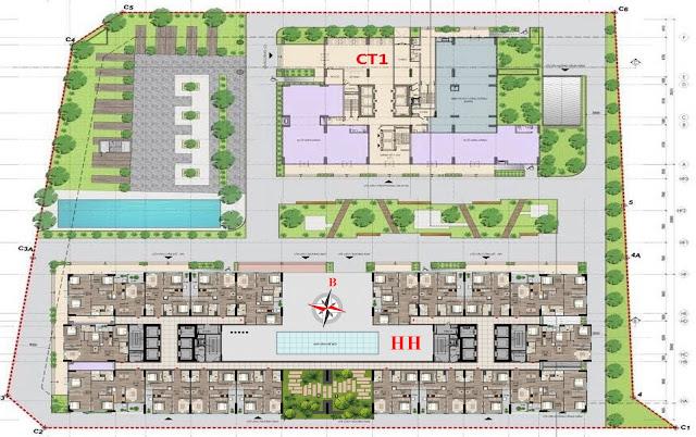 Mặt bằng thiết kế Chung cư 43 Phạm Văn Đồng - Tòa HH