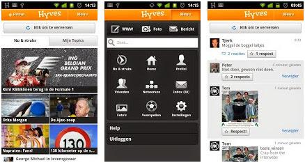 Hyves App voor Android, iPhone en iPad