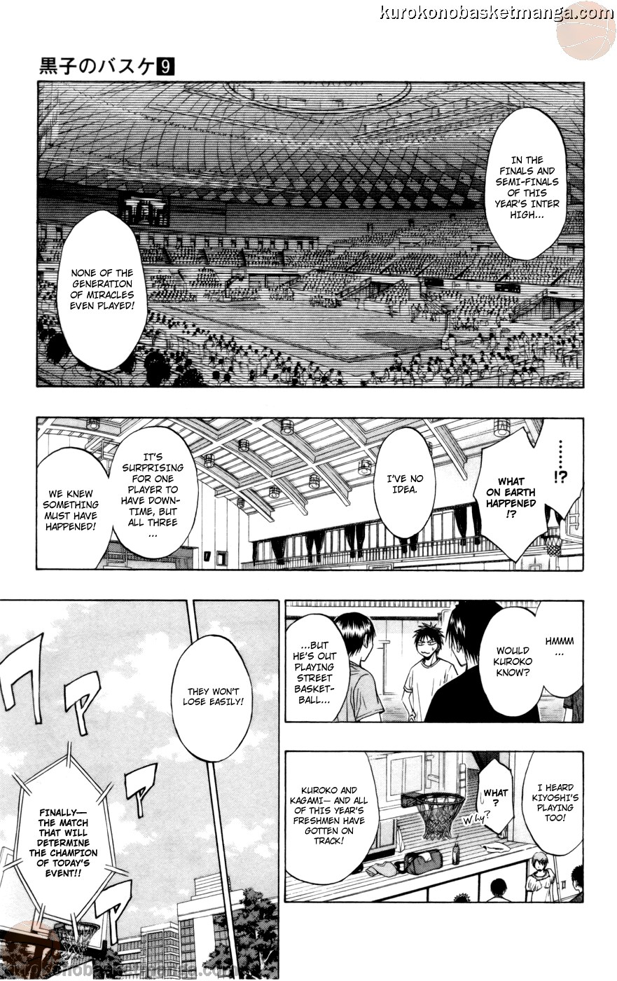 Kuroko no Basket Manga Chapter 77 - Image 11