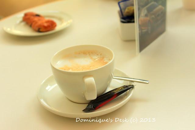 Enjoying a cup of tea/chocolate