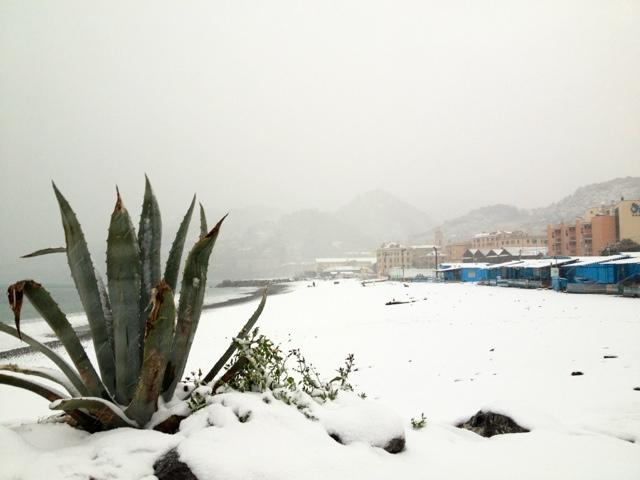 nevicata Genova Voltri