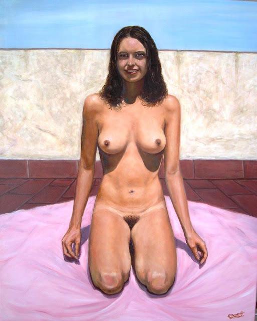 Ana al sol,obra del pintor Emilio Romero Rodríguez